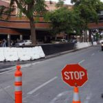 White Construction Roadway barriers